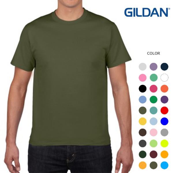 [GILDAN] 반팔 라운드티 PREMIUM COTTON (32color)