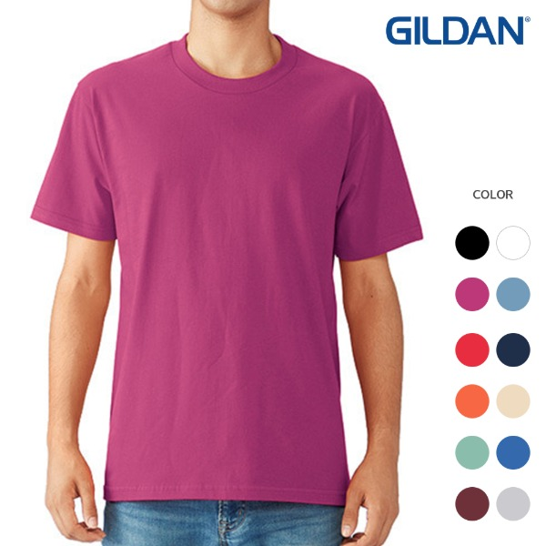 [GILDAN] 반팔 라운드티 HAMMER COTTON (12color)
